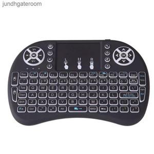 Combo 2020 RII Mouse I8 Teclado Controle Remoto 3 Cores Retroiluminado LED 2.4GHz Touchpad Teclado para Wifi Bluetooth Android