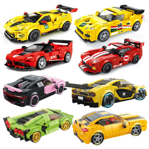 Speed Champions Race Car City Model Moc Bricks Great Vehicle Set Racing Building DIY Kid Toys Gift Sport Super Technic Creator Q1126
