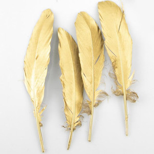 4-6 Inch Gold Silver Feather Plume Craft Supplies Wedding Decoration Centerpieces web Celebrity Wall Decoration Hat Accessories HHE3374