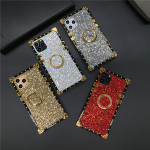Luxury Glitter Cover Shinning Square Phone Case for Huawei Mate 30 Pro Mate 20 P30 Lite P40 P20 PRO Honor 30S V30 8X 10 Y6 Y7 Y9 Case