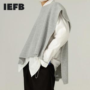 IEFB HAKA Herbst Winter runden Kragen Schal Stil Pullover 2020 neue koreanische kinttwear Allgleiches sleeveless Weste Männer 9Y4601