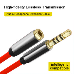 Headset Extension AUX Cable 3.5mm Audio Auxiliary Stereo Male To Female Extension Cable Alloy Audio Cable 3.5mm For Smart Phone