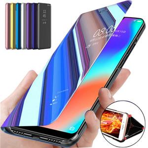 Smart Mirror Flip Phone Case For Huawei Honor 8X P20 P30 Lite Mate 20 10 Pro Note 10 P Smart Z Y5 Y6 Y7 Y9