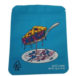 Berry Berry Biscotti Biscotti Mylar Borse Gummies Packaging Sacchetti Borse Blue 6Color Stampato Plastica Plastica Essential Candy Shipping GTJYG