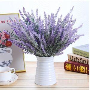 1PCS Home Decoration Artificial Flower Model Plastic Flowers Photo props Wedding Hand Held Imitation Flowers Lavender