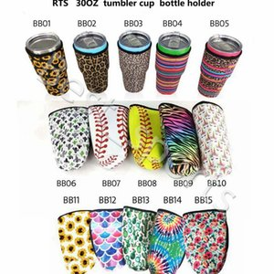 15 Styles 30oz Tumbler Holder Cover Bags Neoprene Insulated Sleeve bag Coffee Mugs Cups Water Bottle Cover CYZ2881