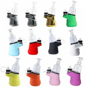SOC Hookah Kits WAX Atomizer Glass Bongs Water Pipe Concentrate Vape Vaporizer 2600mah Dab Oil Rig Bubber e Cigarette Quartz Ceramic Bowls