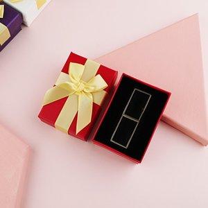 Бумажная помада подарочная коробка ювелирные изделия помада магазин подарочной коробке с большим бантом Валентина на день Святого Валентина подарок на день рождения на день рождения на день рождения