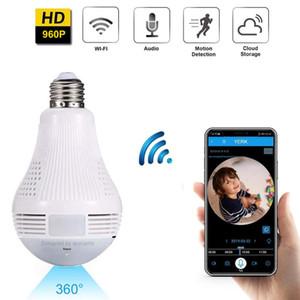 Panoramic Bulb Light mini Camera HD 960P 360 Degree Fisheye Wifi Wireless CCTV LED hidden Light lamp IP P2P Home Security cam