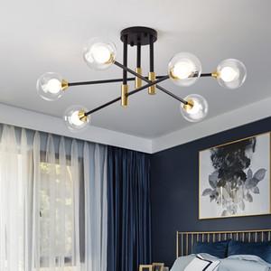 Nordic Glass Ball Chandelier Lighting Modern Living Room Chandelier Creative Hanging Light Home Indoor Branch Suspension Lamp