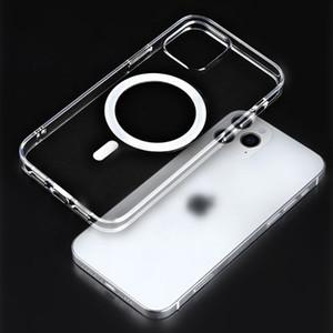 Soft Silicone Magsafe Case para iPhone 12 Pro Max 12 Mini Mag Seguro Capa protetora Shell Círculo magnético embutido
