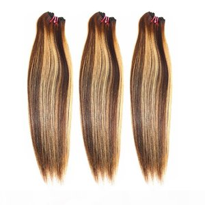 Dilys Mixed Colors Straight Hair Bundles Remy Hair Brazilian Peruvian Indian Unprocessed Human Hair Extensions Weaves Wefts 8-28 inches