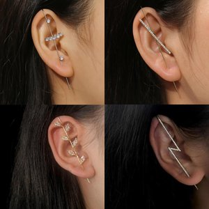 Tocona Shiny Crystal Stone Stud Earring for Woman Charms Geometric Cross Pearl Moon Love Party Jewelry Accessories pendiente