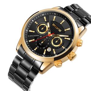 Skone / Space Time Большой набор мультифункциональный водонепроницаемый мужской бизнес спортивный светлый календарь кварцевые часы