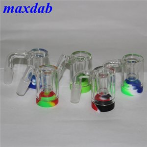 14mm Ash catcher 45 90 Degree Showerhead percolator one inside joint glass ash catcher thick glass ashcatcher for water smoking pipe