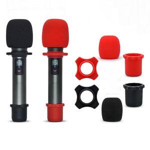 Anti Slip Proteção Microfone Silicone Skid Skid Proof Mic Anti-Slip Base Não-Skid Rolling KTV Substituição Mic Acessórios