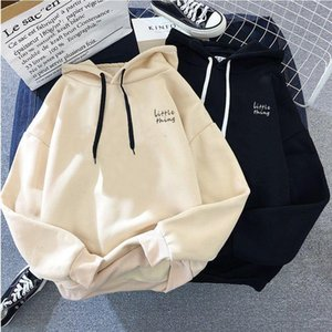 Womens Tracksuits Hooded Sweatshirts 2020 Autumn Winter Fleece Oversize Hoodies Solid Color Jackets