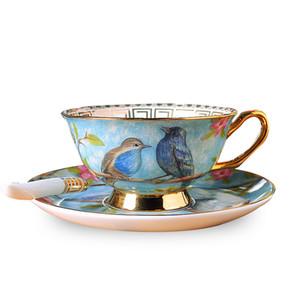 Европейский стиль Восстанавливающий древний фарфоровый кофейной чашкой блюдо костюмы британский керамический Phnom Penh послеобеденные чашки чашки чайных чашек F1217