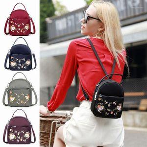 mini backpack women handbags nylon embroidery multifunction small backpacks1