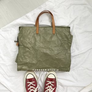 Últimas Mulheres Bolsas Lady Ombro Top Kraft Paper os do mensageiro lavável e resistente à ruptura Único Luz Bag Moda Q1118