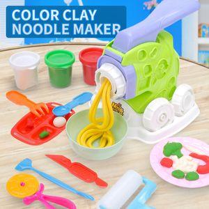 TW2007043 DIY Color Clay Helado Color de la fiesta de la comida de la máquina de fideos gourmet de barro