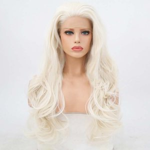 Blonde Color slight Body Wave Lace Front synthetic wig for many with soft handfeeling and wholsale wig