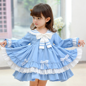 Girls Spanish Clothes Children Lolita Ball Gowns For Baby Girl Birthday Baptism Party Dresses infant Vintage Princess Vestidos