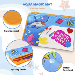 Toyk Aqua Magic Kids Painting Writing Board Toy - Color Doodle Drawing Mat Bring Pens Educational Toys for Age 3 4