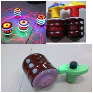 LED Flash Wood Gyro Music Light-Emiting Toy Linkning Top Peg-Top для Baby Новинка Классическая игрушка Детские игрушки подарки Drop