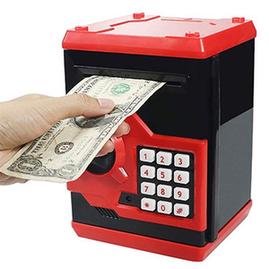Electronic Piggy Bank Safe Money Box For Children Digital Coins Cash Saving Safe Deposit ATM Machine Birthday Gift For Kids LJ201212