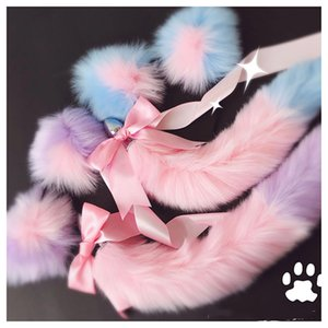 Handsome Soft Cat Ears With Fox Tail Metal Arch Headbands But Anal Erotic Plug Cosplay Accessories Adult Sex Toys For Couples Bajil