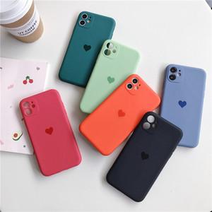 Per iPhone 12 Pro Max Telefono Custodie per le donne Uomo Amante Soft TPU Cover Cute Love Heart Pattern Case Ultra Slim per gli amanti Protettivo flessibile