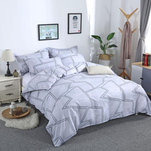 New Arrival 3pcs Bedding Set Marble Gometric Duvet Cover Sets with Pillowcase Quilt Cover Double Sided Bed Linings Bedclothes