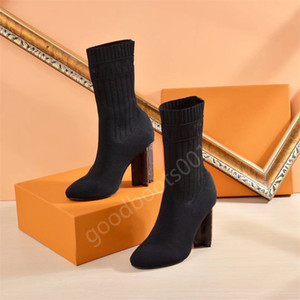 Socks boots autumn and winter fashion women's shoes knitted stretch boots luxury Martin boots sexy women high heels large size 35-41