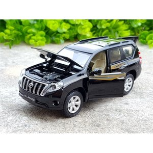 1:32 Scale For TOYOTA LAND CRUISER PRADO Diecast Alloy Metal SUV Off-Road Collection Car Model Sound&Light Toys Vehicle Z1124