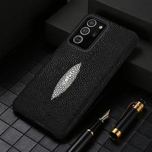 Genuine Stingray Capas de telefone de couro para Samsung Galaxy Note 20 Ultra Note 10 mais 9 A50 A70 A51 A71 A21S S10 S9 S20 Plus S20 Fe
