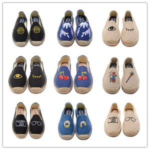 Hot Sale-drilles Casual Fisherman Shoe Checks Grids Stripped Canvas Slip On Snickers Skate Ballet Flats Loafers