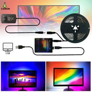Tip tira kit USB sonho cor led tira 1m 2m 3m 4m 5m rgb ws2812b tira para televisão pc tela luz iluminação