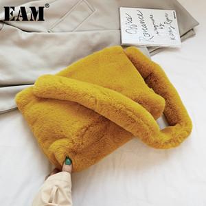 [EAM] Faux Pelz Kleine Crossbody Taschen für Frauen 2021 Winter Weiche Warme Schulter Handtaschen Damen Reise Branded Handtasche HO558 Q1215