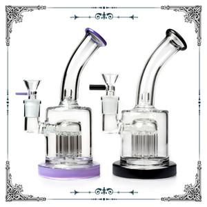 Diamond glass 7.5 inch Mini bubbler 10 arms perc beaker bongs glass smoking water pipe hookah waterpipes heady glass oil rig