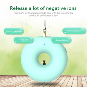 Kids Necklace Air Purifier Negative Ionizer Anion Mini Wearable Air Freshener Hanging Neck Purifier USB Portable Air Cleaner Xmas Gift