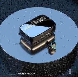 Skull Design M9 TWS LED Display TWS Wireless Bluetooth 5.1 Headphone M18 M16 Mini Earphone Stereo Sport Earbuds Touch Key Waterproof Headset