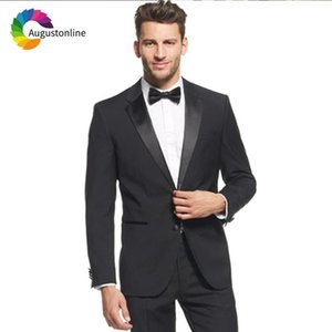 Men's Suits & Blazers Black Men Wedding For Man Blazer Evening Party Prom Slim Fit Casual Tailor Tuxedo 2 Pieces Terno Masculino