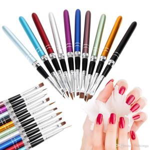 10pcs Nail Art Brush Set Tools Painting Pen for False Tips UV Nail Gel Polish Painting Nail Brushes Tool