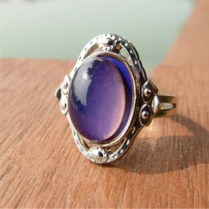 Gypsy style Adjustable Size Oval Color Change Mood Ring Emotion Feeling Changeable Ring The color changes with the mood   temperature