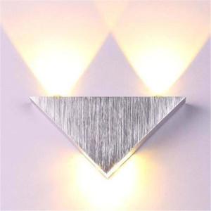 Lâmpada de parede interna Luz da casa 3W 9W LED Triângulo Alumínio Luminária Luminária Sala de estar Aisle Bed Bed Bedide Sconce Lâmpadas modernas