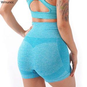 WMUNCC apretados sin costuras gimnasio leggings shorts women fitness entrenamiento correr deportes yoga alta cintura estiramiento transpirable activo ropa z1125