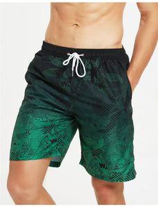 Fashion-Plus Size Mens Swim Trunks Swimwear Shorts Floral Casual Mens Shorts Surf Board Shorts Summer Sport Beach Short Pants With Pocket