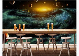 Beautiful fantasy universe space Photo Wallpaper Living room tv background wall Home Decor Mural For Bedroom Walls 3D1