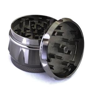 55mm SharpStone Herb grinders with drum shape rainbow grinder Herb Grinders 4 Layers Black Metal tobacco smoking Grinder
